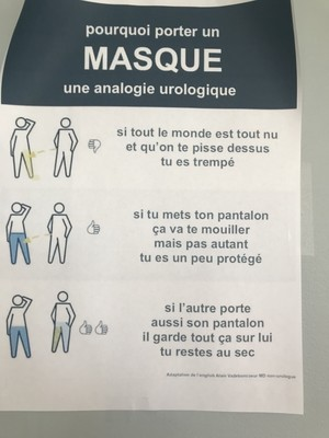 Là où le masque remplace utilement un pantalon !