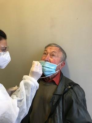 Georges Cristini testé dans un laboratoire béarnais